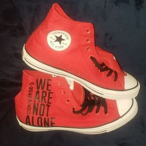 "New Converse CTAS HI ""WE ARE NOT ALONE"" size 8m10w"